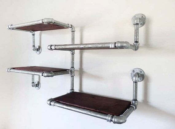 pipe shelf rayonnage tag res style industriel pinterest tag res tuyaux et tag res en. Black Bedroom Furniture Sets. Home Design Ideas