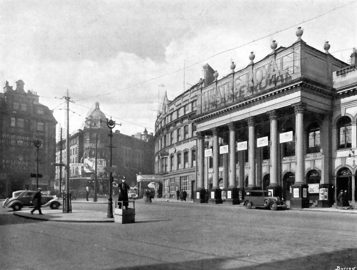 Theatre Square, Nottingham, 1930s.