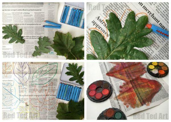 Festão maravilhosa da folha do outono.  Este é um ótimo Outono Artesanato para crianças - combinando natureza, arte e reciclagem!  As crianças vão adorar e os resultados são deslumbrantes!  Explore, texturas, formas e cores e por que não transformar isso em um projeto colaborativo também ?!