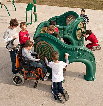 sensory playground with music, mazes, mirrors, gears, puzzles & more