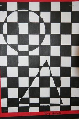 6th grade op art. Have Andrew do with scout logo and colors. Auf splishsplashsplatterart.blogspot.com