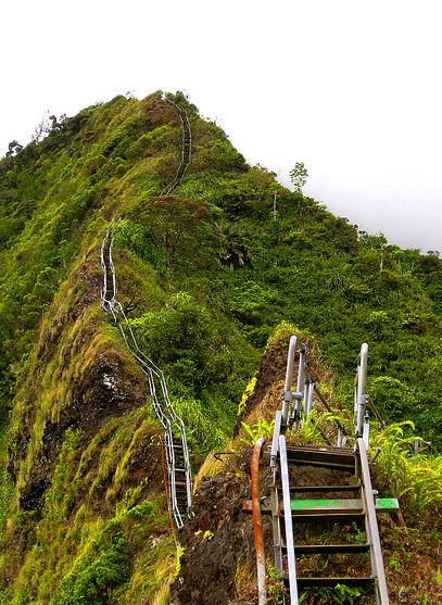 Doubt ill have the cohons to do this but on the wish list... 1 month. Stairway to Heaven (Haiku Stairs) in Oahu, Hawaii: