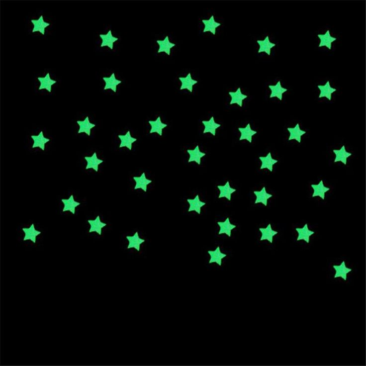 100 ШТ. Детская Спальня Флуоресцентные Светящиеся В Темноте Звезды Стены Стикеры Декор Для Дома DIY плакат vinilos паредес купить на AliExpress