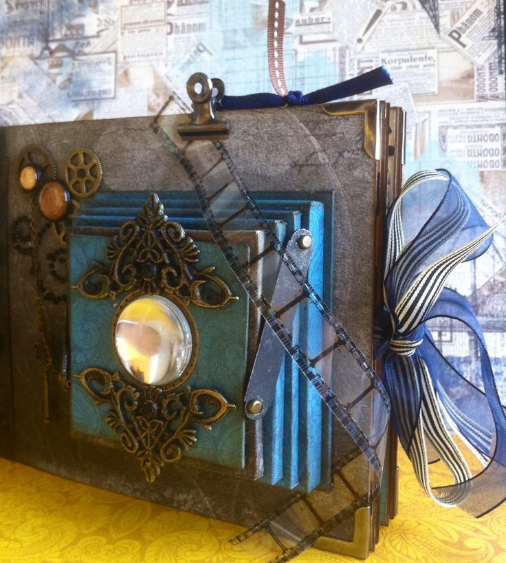 Scrapbooking: Vintage folding camera album--somewhere in time