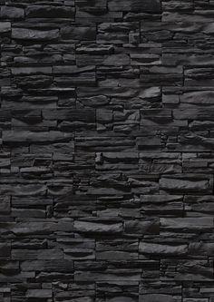 black stone texture wall - Textura de muro de piedra negra