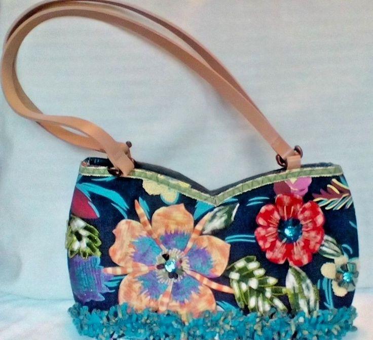 Womens Mary Frances Denim Embroidered Shoulder Handbag #MaryFrances #ShoulderBag
