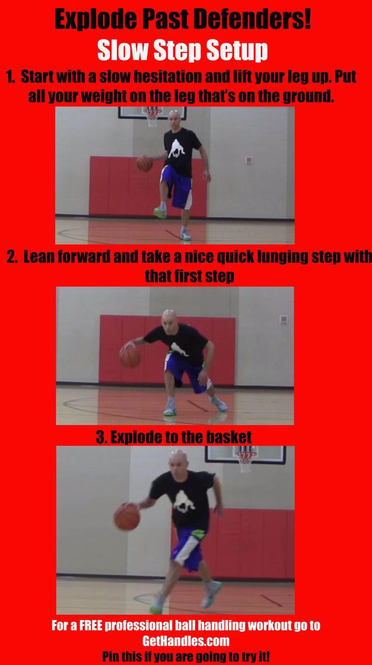 Explode Past Defenders! Slow Step Setup  #basketball #ballislife