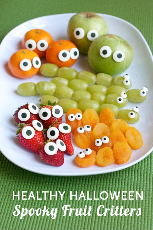 Such a simple way to make a healthy snack for Halloween - totally doing this!