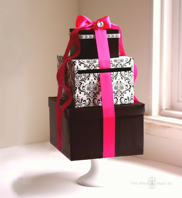Ingenious! Again, easier to work with squares for a card box! Any school color, such as purple and silver or purple/white