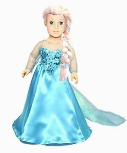 "Elsa doll costume for 18"" doll"
