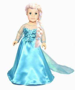 """Elsa doll costume for 18"""" doll"""