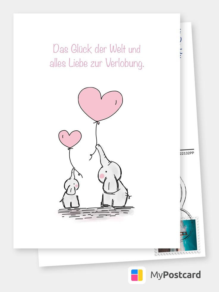 Zur Verlobung | Glückwünschkarten & Sprüche 🎊🙌 | Echte