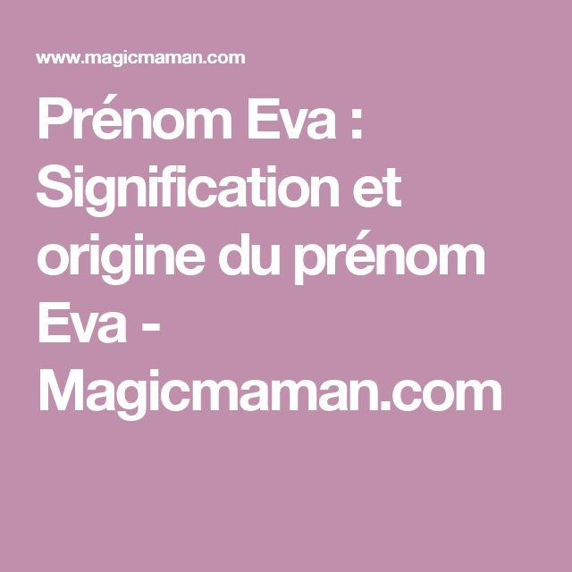 Prénom Eva : Signification et origine du prénom Eva - Magicmaman.com