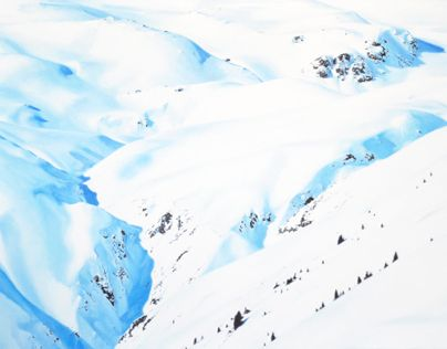 Snow (Clavadel), 80 x 120 cm, oil on canvas
