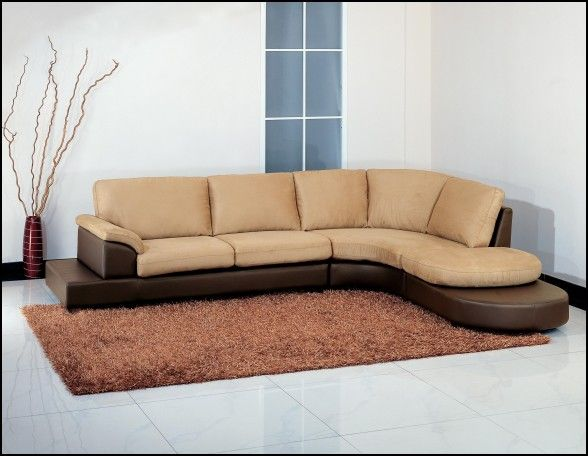 Abbyson Living Charlotte Dark Brown Sectional sofa and Ottoman : dark brown sectional sofa - Sectionals, Sofas & Couches