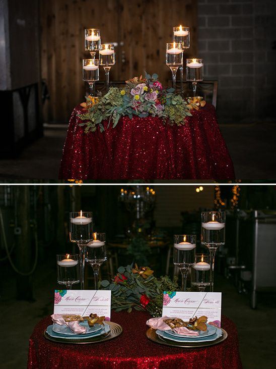 style and glam wedding ideas apple red weddingfall weddingred glittersweetheart tablecenterpiece