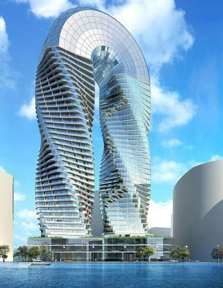DNA Towers project , James Law Cybertecture ,Abu Dhabi | Wonderful Places