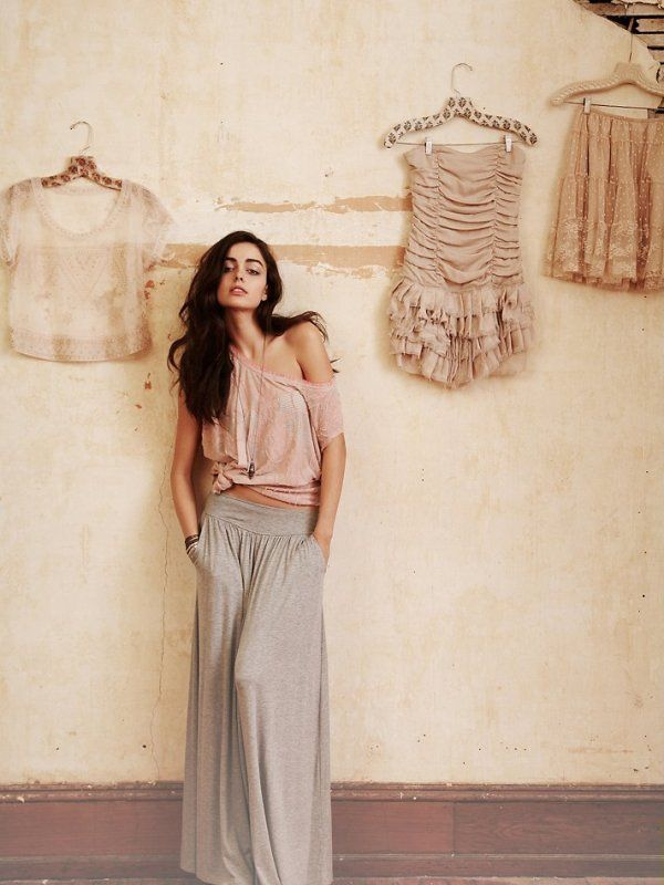 relaxed: Wide Legs Pants, Long Legs, Chic Outfits, Style, Long Skirts, Free People, Dusty Rose, Baker, Maxi Skirts