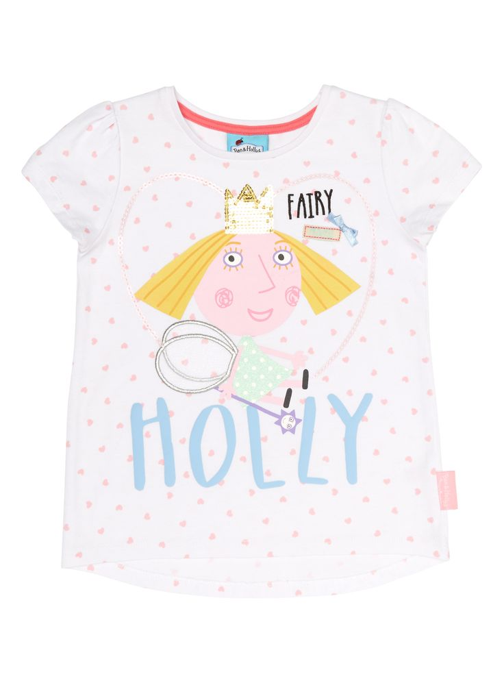 Girls Girls White Holly Heart T-Shirt (9 months - 5 years) | Tu clothing
