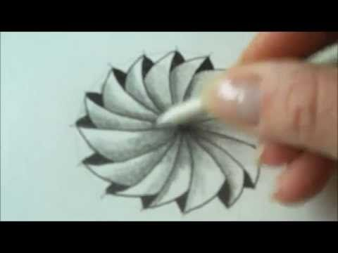 How to draw tanglepattern Phicops in a circle - YouTube