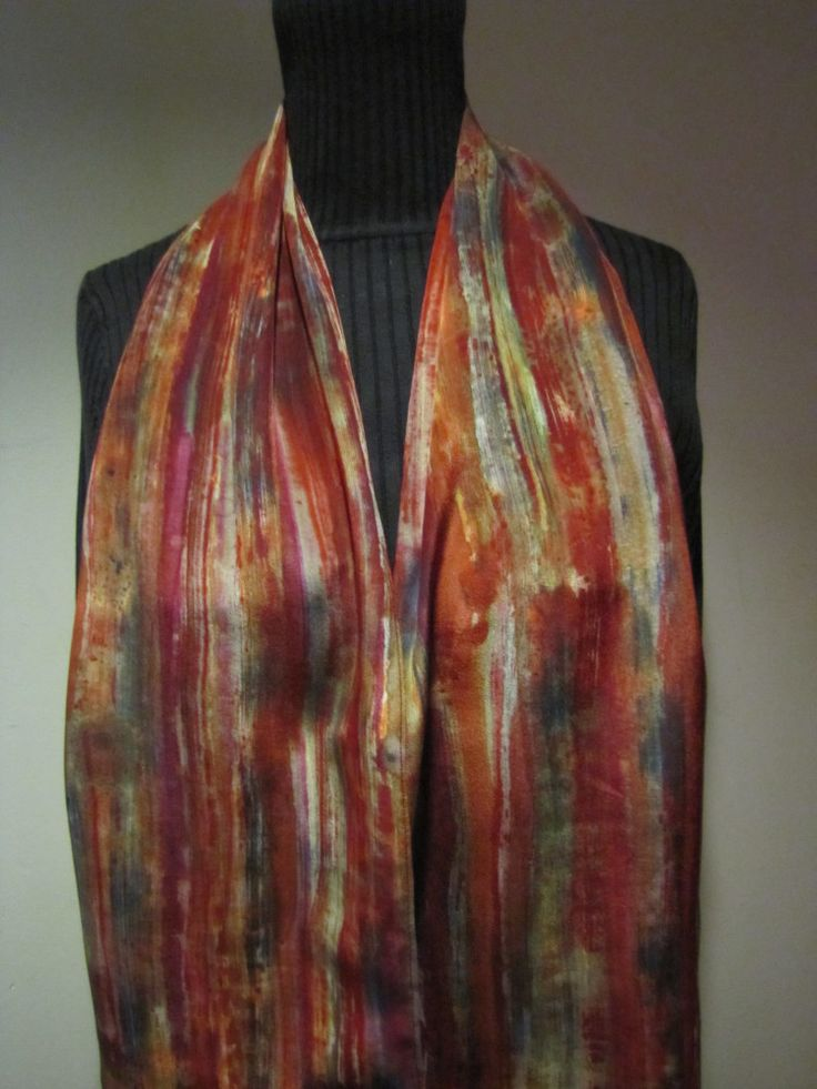 43 best handpainted silk images on Pinterest | Dyed silk ...