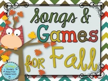 Songs and Activities for Fall and Halloween: Over 400 pages! This set is packed full of songs and activities specifically geared toward the fall and Halloween in the Kodaly music classroom. Songs include Naughty Kitty Cat, I climbed up the Apple Tree, Apple Tree, Skin and Bones, Let Us Chase the Squirrel, See the Old Witch, and Pumpkin Pumpkin. Also includes many games to practice different rhythm concepts.