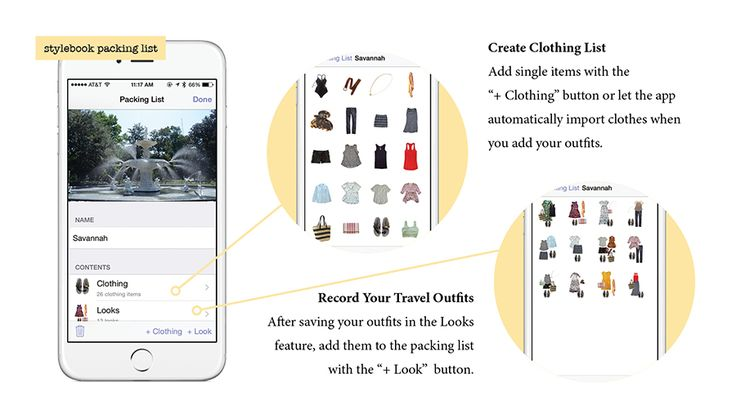 Planning and creating the ultimate visual packing list with the closet app Stylebook