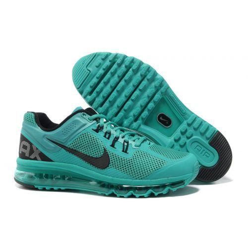 Only Need $80.99 Plus Free Shipping, Mens Nike Air Max 2013 Mesh Cyan Black  On