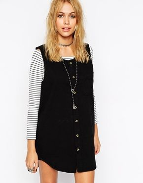 Enlarge ASOS Reclaimed Vintage Sleeveless Denim Shirt Dress