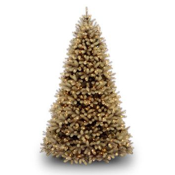 National Tree Co. Douglas Fir 7.5' Beige Downswept Artificial Christmas Tree with 750 Dual-Color LED Lights with Stand
