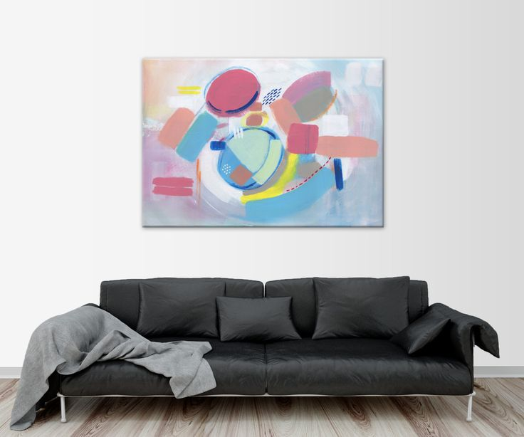 """Giclée Print, Multicolor Painting, Abstract Painting, Abstract Art, Colourful Painting, Fine Art print, Modern Painting, """"OVNI"""" by HolaGabrielle on Etsy"""