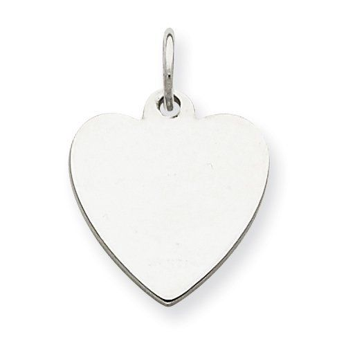 Sterling Silver Engraveable Heart Disc Charm goldia. $13.74