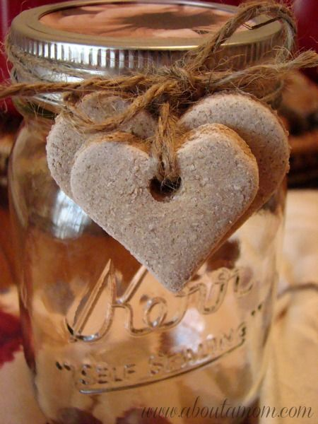 Cinnamon Salt Dough Hearts