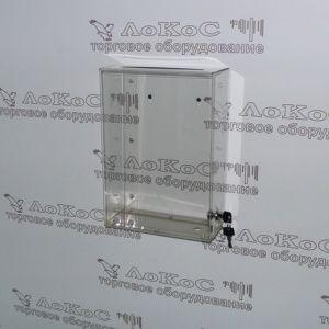 Ящик для пожертвований настенный (анкет) 300*210*100мм, прозрачный, ЯСПН 300*210*100 АРТИКУЛ ЯСПН 300*210*100 ОПИСАНИЕ Ящик для пожертвований (сбора анкет) настенный, имеет узкую прорезь в верхней части, с нижней стороны дверку на замке для выемки пожертвований (анкет), в задней части отверстие для крепления на стену (или другие поверхности). Материал - прозрачный акрил 2 мм. Размеры: ширина - 210 мм, высота - 300 мм, глубина - 100 мм. ПРОИЗВОДИТЕЛЬ РОССИЯ