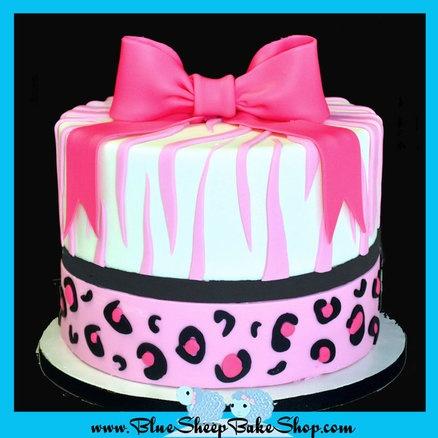 Pink Safari Cake