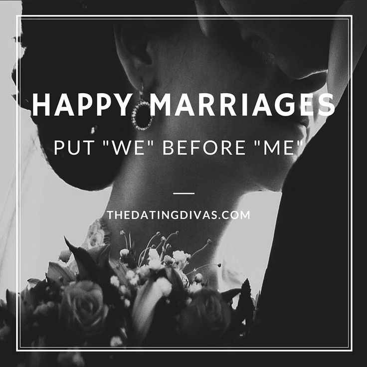 Happy Marriages Put WE Before ME!