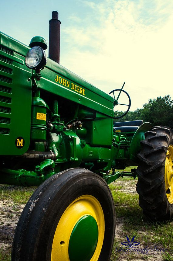Signed Photography Print  John Deere Tractor by CharminglyDixie, $15.00