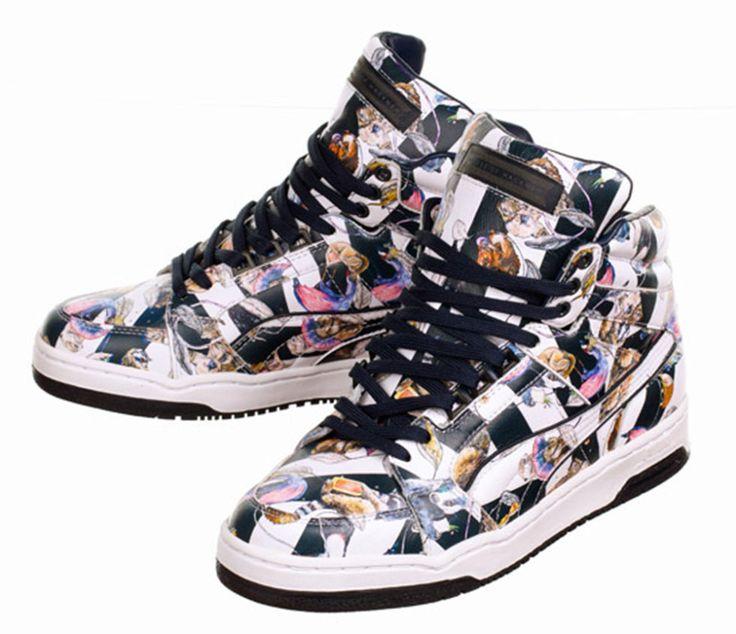 Sneakers Slipstream in pelle premium con stampa Hackney Empire disegnata per House of Hackney, brand inglese di decorazione d'interni, <b>Puma X HOH</b> (€ 180)