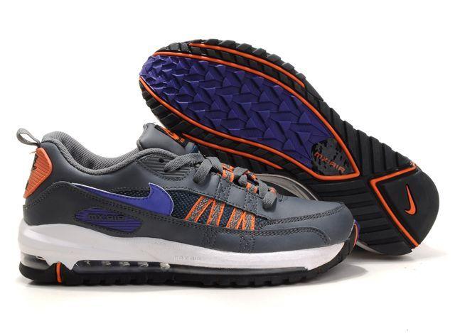 BZnYi8 Nike Air Max Tn Shoes Mens Grey/Blue/Orange