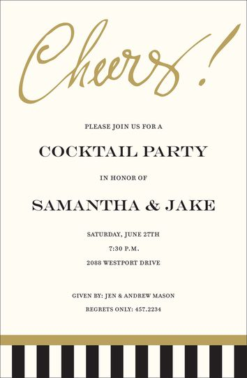 Cheers Invitations In 2019 Invite Cocktail Wedding Reception