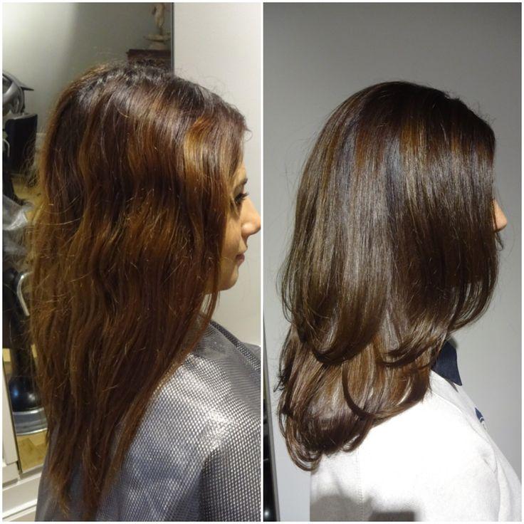 Ett försummat hår fick tillbaka sin lyster med en djupare brun hårfärg