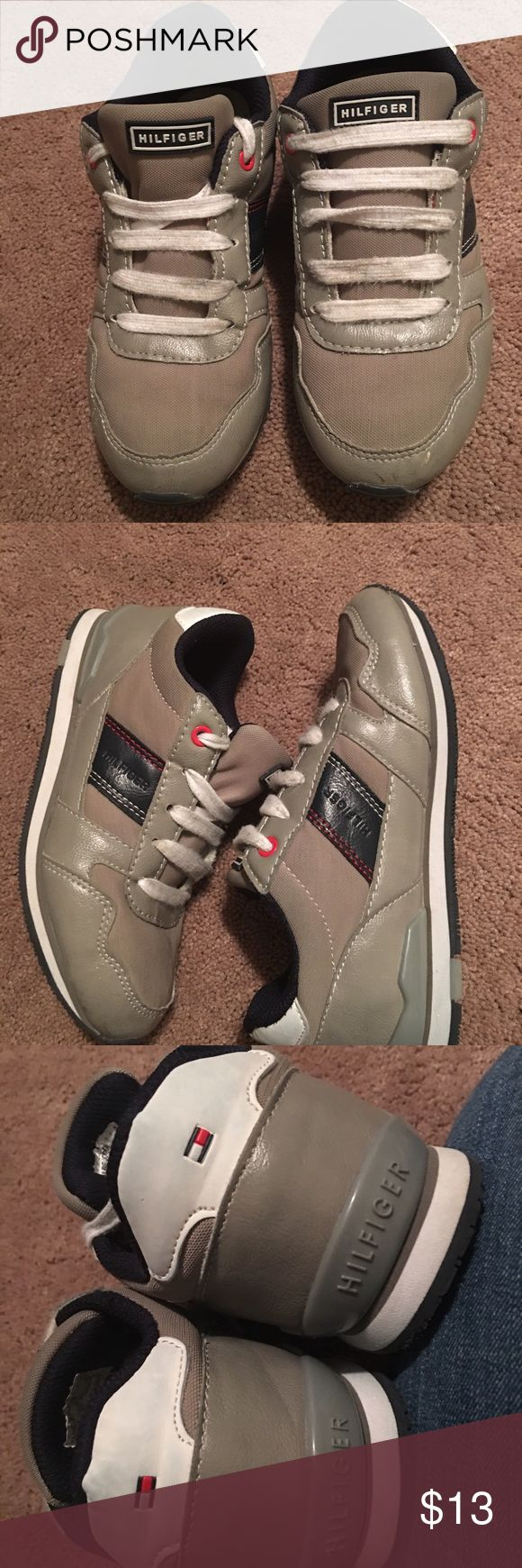 Boys sneakers Tommy Hilfiger sneakers...ok condition...there are a few small skiff marks on each shoe Tommy Hilfiger Shoes Sneakers