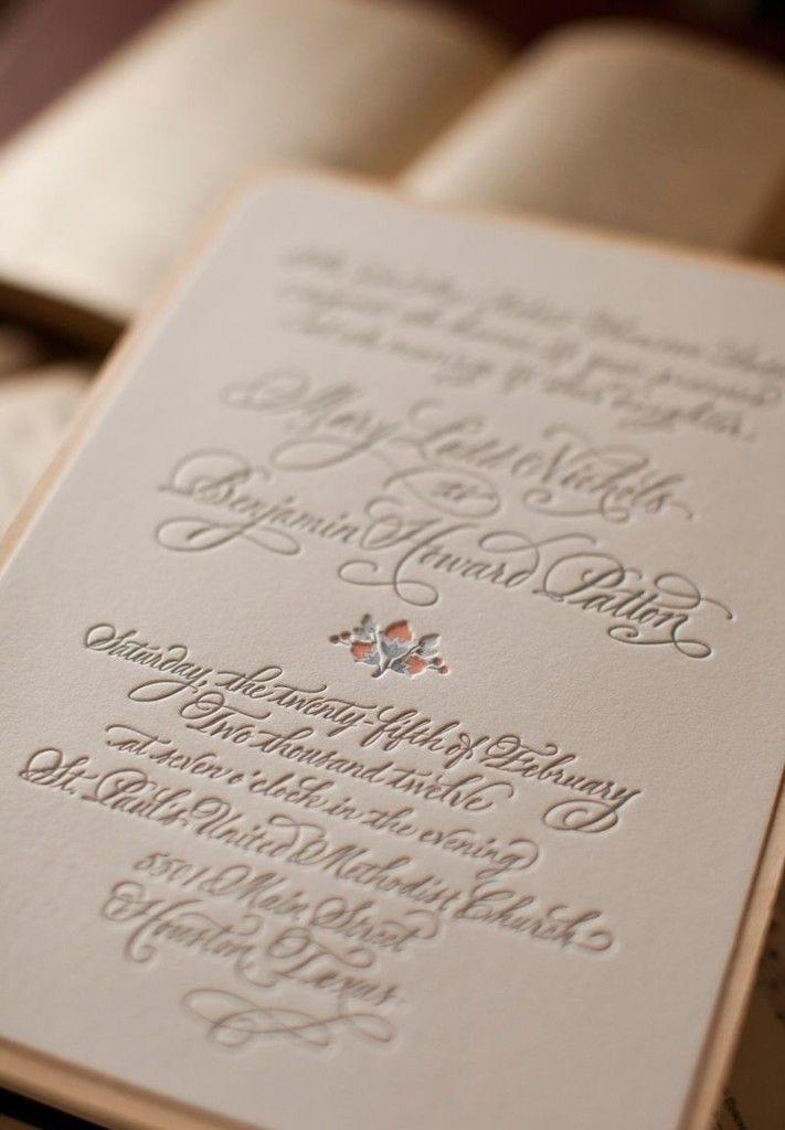 invitation card wedding card elegant letterpress and