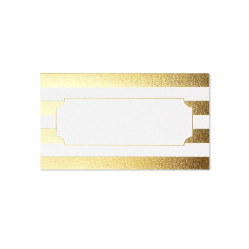 Gold striped Placecards
