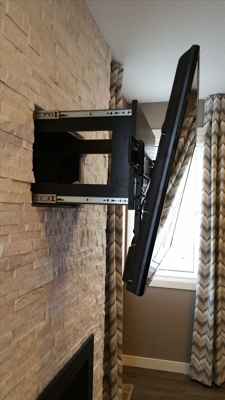 Fireplace Electric Wall Mount This Is A Fireplace With Built In Hidden Drawer Behind Tv