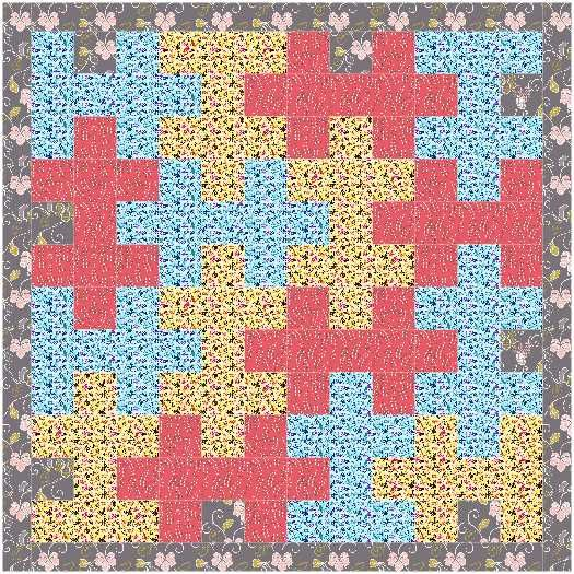Jigsaw puzzle quilt pattern and tutorial from Ludlow Quilt and Sew