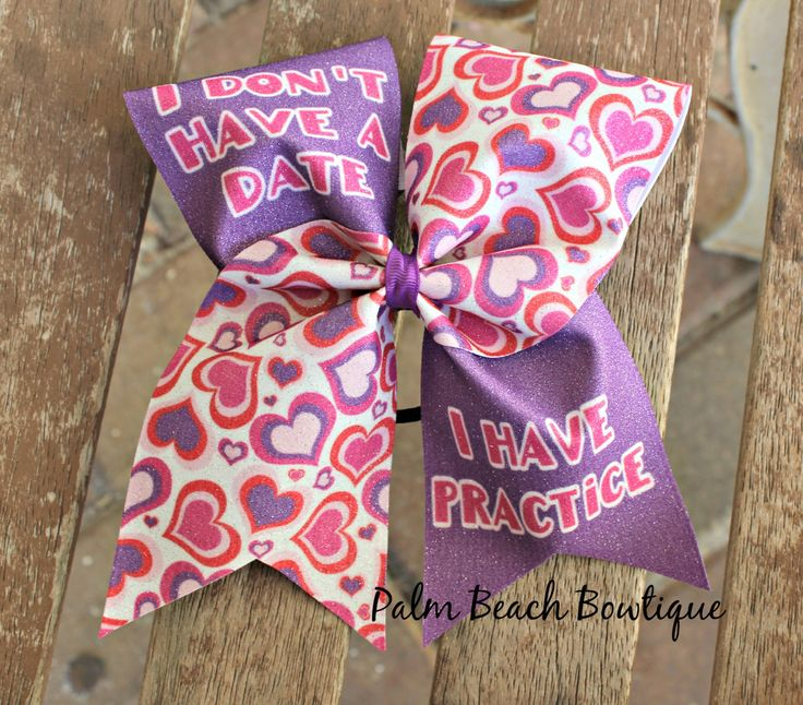 Cheer Bow Valentines Day I Have Practice by PalmBeachBowtique on Etsy https://www.etsy.com/listing/217577974/cheer-bow-valentines-day-i-have-practice