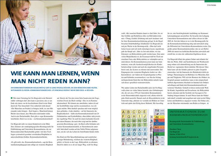 """""""Mehr als Worte"""" - Unterstützte Kommunikation im Raum Bodensee-Oberschwaben  Wie kann man lernen, wenn man nicht reden kann?"""