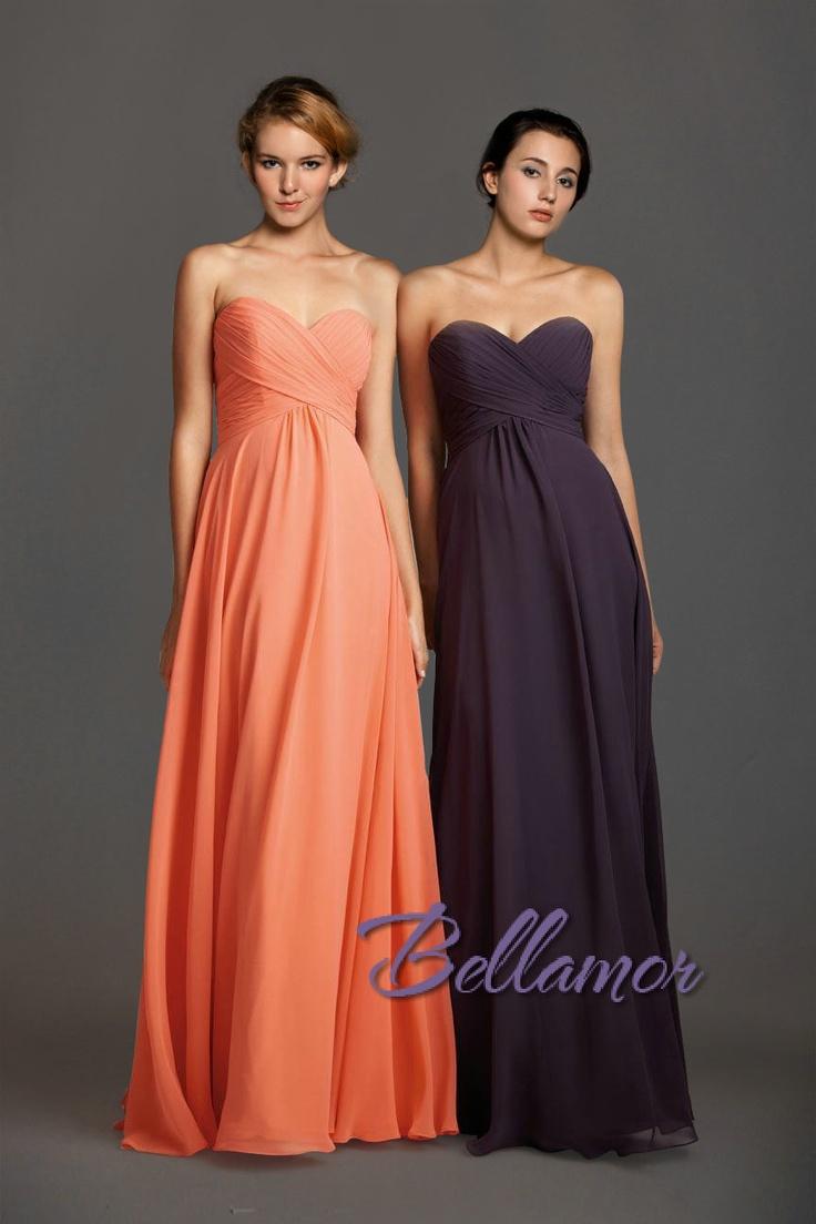 Wunderbar Orange Violett Herzausschnitt Gestackt Chiffon Festkleid 2013