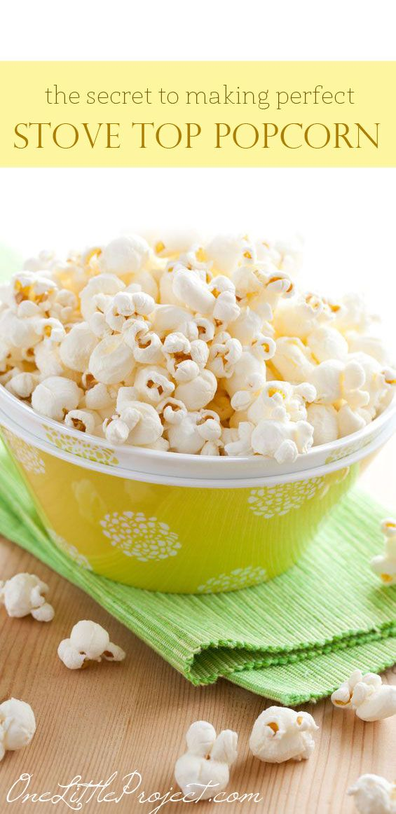 Making popcorn on the stove is easy and so much healthier than microwave popcorn!  I don't know why I haven't made it like this my whole life!